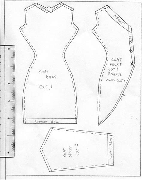 barbie doll clothes pattern template 17 best images about sewing barbie doll clothes patterns