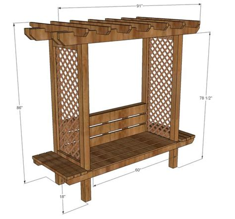 arbor bench plans ana white build a outdoor bench with arbor free and