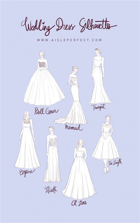 Wedding Siluet by Planning 101 Wedding Dress Silhouettes Aisle