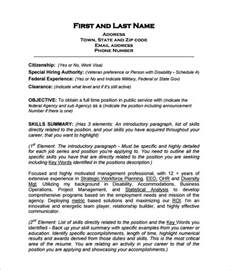 federal resume template federal resume template 10 free word excel pdf format