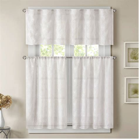 walmart curtains for kitchen better homes and gardens linen leaf 3 piece kitchen