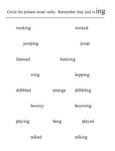 verbs and verb tense free language stuff