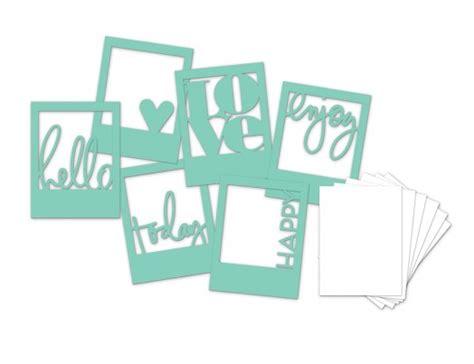 Dijamin Stencil Mini 3 heidi swapp 3 quot x4 quot mini stencil kit frames
