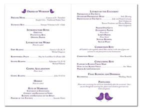 wedding program layouts the 17 best images about ceramony on receptions and wedding