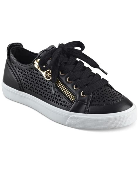 womens guess sneakers guess s gerlie lace up sneaker in black lyst
