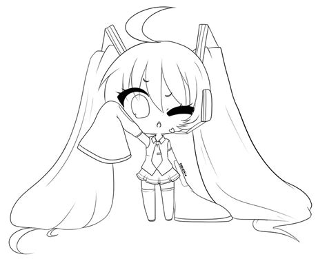 how to color lineart hatsune miku coloring pages to print coloring pages