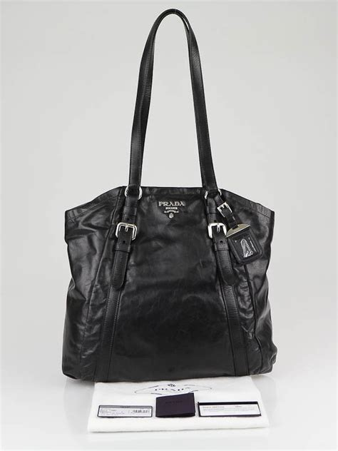 Prada Dressy New Look Tote by Prada Black Leather New Look Shopping Tote Bag Br3879