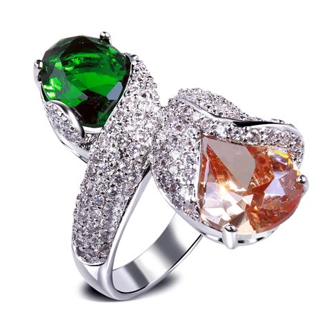 unique engagement rings with colored stones vintage