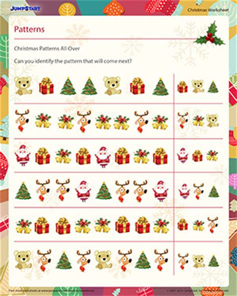 christmas pattern maths christmas patterns all over free pattern recognition