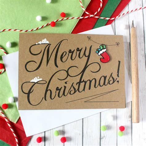 christmas stocking merry christmas card   silverleaf notonthehighstreetcom