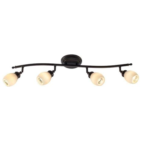 Wall Track Lighting Fixtures Hton Bay 4 Light Bronze Directional Ceiling Or Wall Track Lighting Fixture Rb171 C4 The