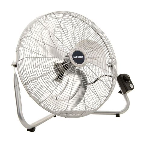 lasko 20 in high velocity floor or wallmount fan in