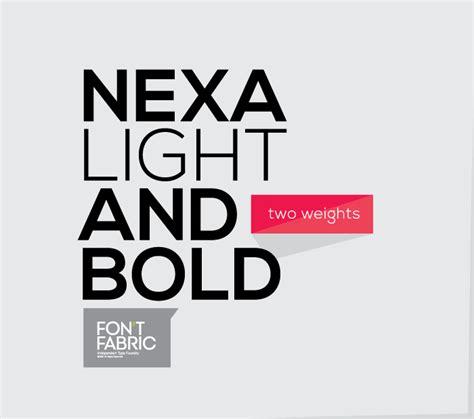 font design company nexa free font fontfabric