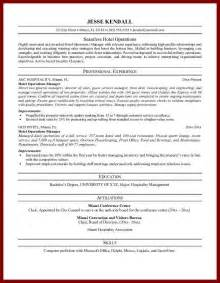 Cv In Hospitality Objective For Hotel Resume Objective For Hotel Resume Resume Sles For Hospitality