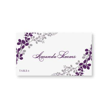 purple place cards template the world s catalog of ideas