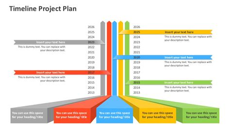 Timeline Project Plan Editable Powerpoint Template Timeline Template Powerpoint