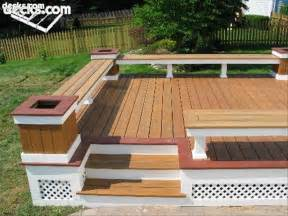 building built in deck benches decks com