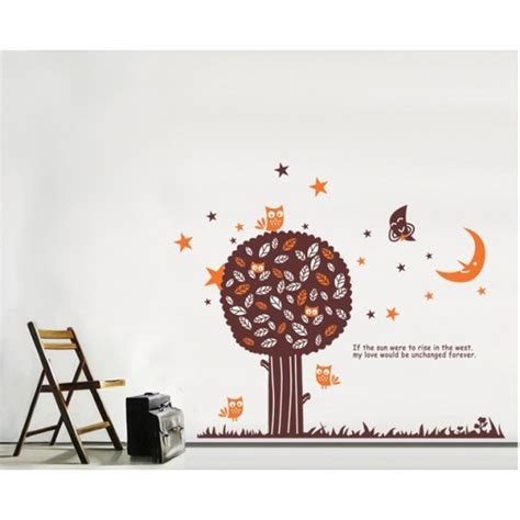 size wall stickers brown big tree wall sticker 150x130cm size jm7099