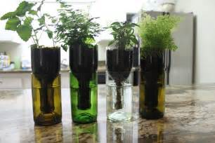 how to make recycled wine bottles into the planter