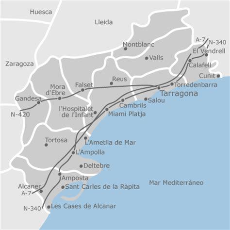mapa de tarragona provincia idealista