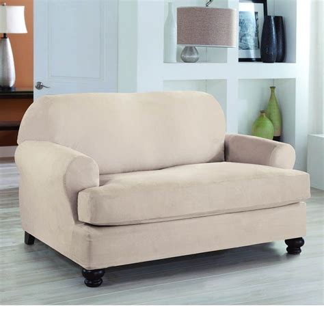 how to wash suede couch cushion covers tailor fit stretch fit 2 piece t loveseat slipcover by