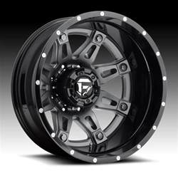 Wheels Dually Truck Fuel D232 Hostage Dually 2 Pc Anthracite Black Truck