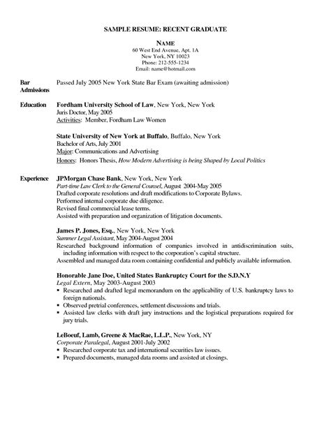 Resume Sle For A College Graduate Sle Resume For Graduate School 28 Images Houston Resume No Experience Sales No Experience