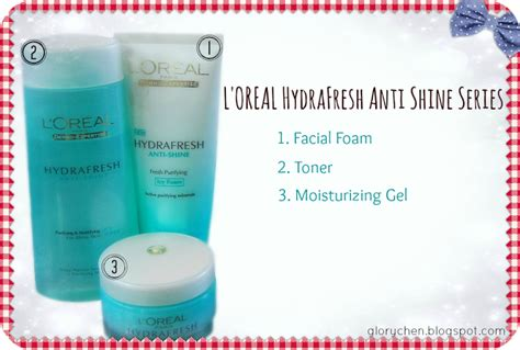 skincare l oreal hydrafresh anti shine fresh purifying