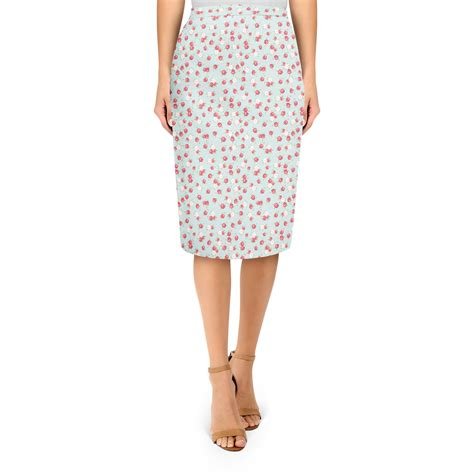 blue patterned midi skirt english rose pattern on blue midi pencil skirt skirts
