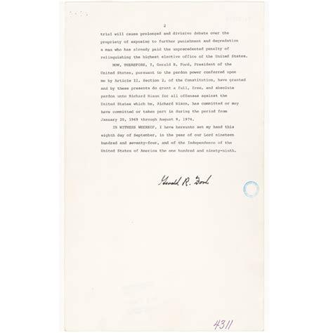 Nixon Resignation Letter Pdf richard nixon s resignation letter and gerald ford s pardon