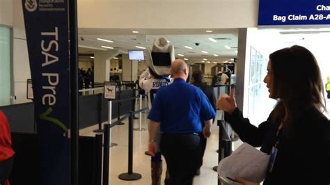 The View Discuss Airport Security by Dallas Cowboys Mascot Rowdy Goes Through Security At Dfw