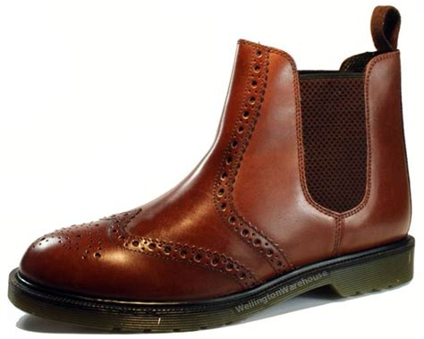 oaktrak belper mens brogue leather dealer air sole pull