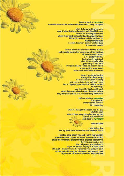 november tyler  creator flower boy lyrical poster