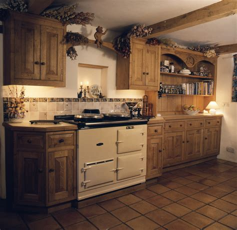 Handmade Wooden Kitchens - bespoke kitchen aga handmade wooden design ideas photo