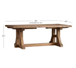Reclaimed Extending Dining Table Stafford Reclaimed Pine Extending Dining Table Pottery Barn