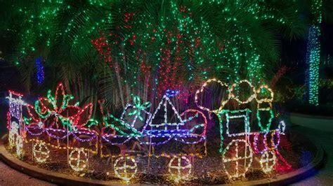 christmas light displays in florida florida botanical gardens holiday lights display 2016