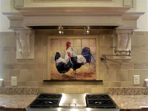Mural Tiles For Kitchen Backsplash by Rooster Tiles Kitchen Backsplash Tiles Black Rooster