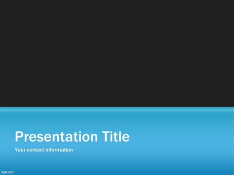 Free Blue Slide Powerpoint Background Slideshow Template Free