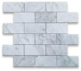 carrara white 2 x 4 subway brick mosaic tile polished