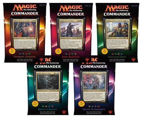 magic decks 2016 mtg commander decks set of 5 magic products