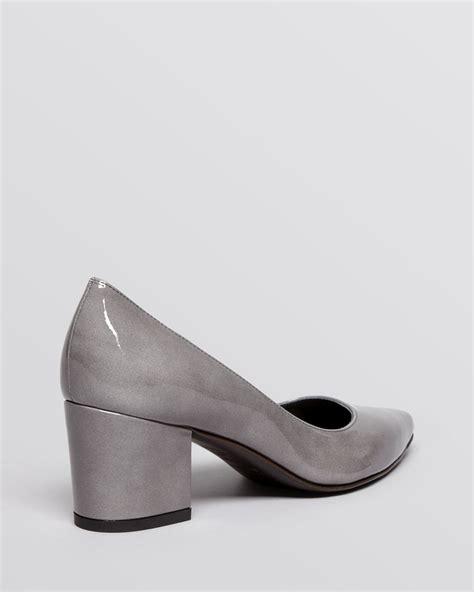 Pointy Toe Low Block Heel Pumps lyst stuart weitzman pointed toe pumps firstclass
