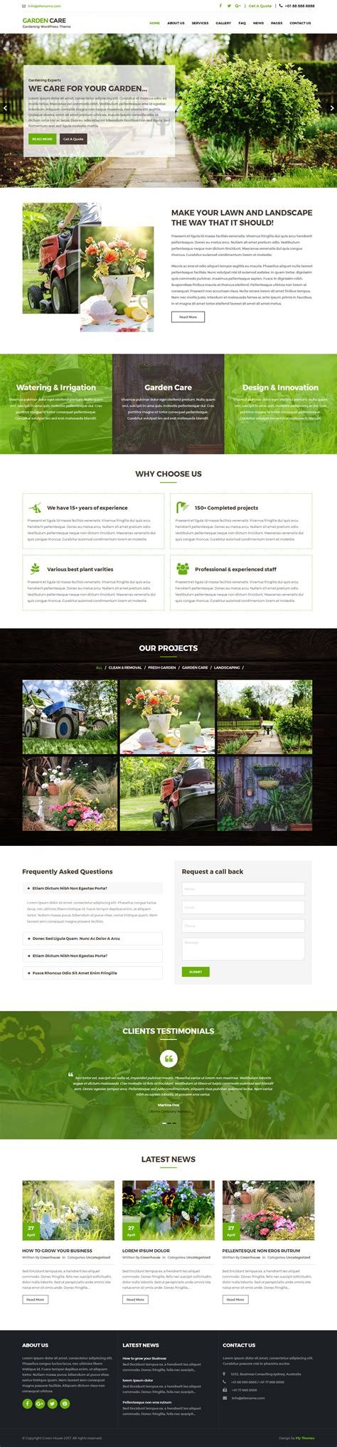 themes wordpress garden greenhouse garden wordpress theme flythemes