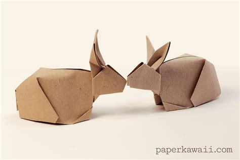 Origami Bunnies - origami bunny rabbit tutorial paper kawaii