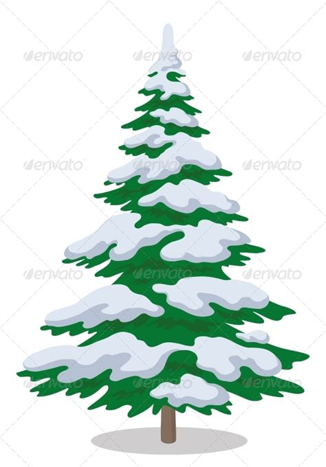 schnee weihnachtsbaum tree with snow by alexokokok graphicriver