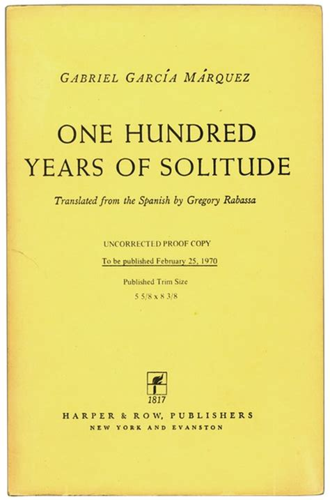 one hundred years of b00hvpsxns garc 205 a m 193 rquez gabriel one hundred years of solitude ken lopez bookseller