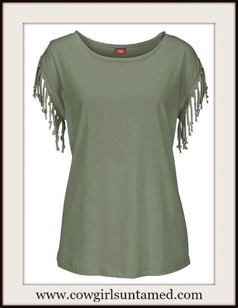 Sleeve Fringe T Shirt fringe sleeve scoop neck t shirt fringe