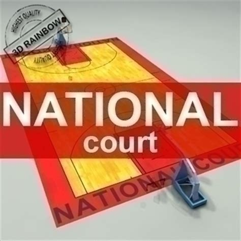 National Court Search National Official Basketball Court 3d Model Basketball Net 3ds Max C4d Ma Mb Pz3 Pp2