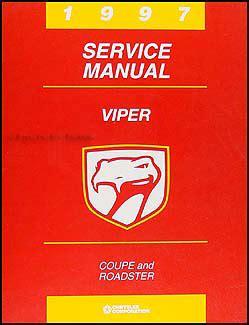 how to download repair manuals 1997 dodge viper head up display 1997 dodge viper coupe and roadster repair shop manual original
