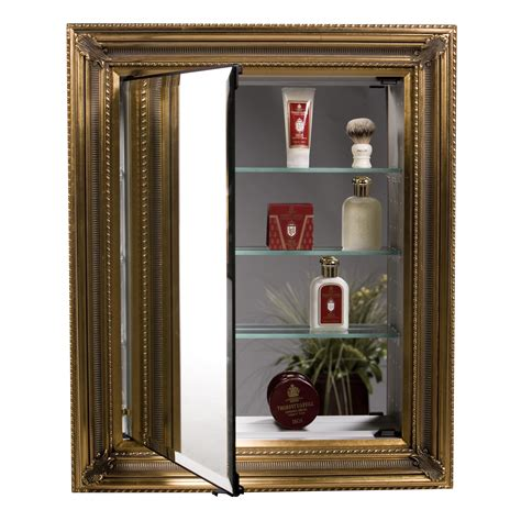 decorative medicine cabinets with mirrors afina vanderbilt single door recessed baroque medicine