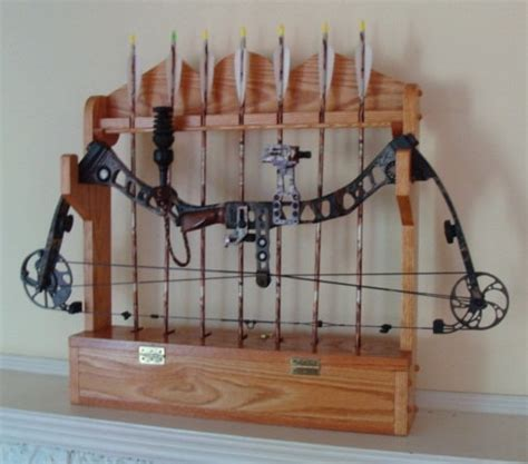 made solid oak bow rack ready to ship by